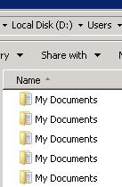 View The Name Of Redirected 'My Documents' Folders